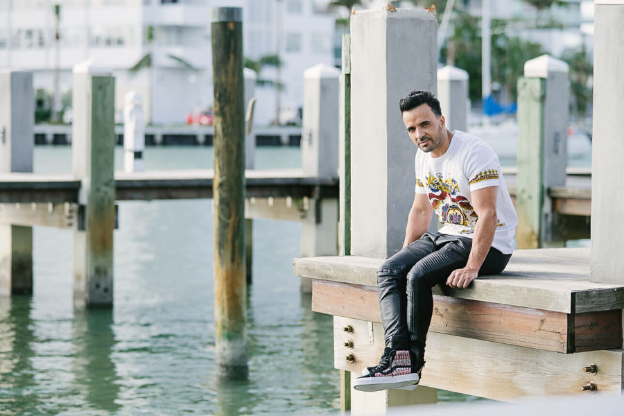 Luis Fonsi cover shoot in Miami Beach